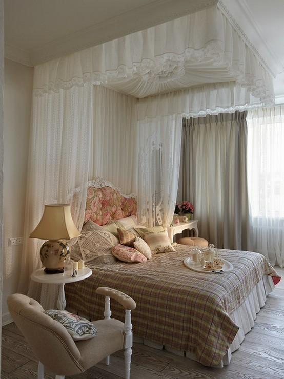 полог для кровати под потолком