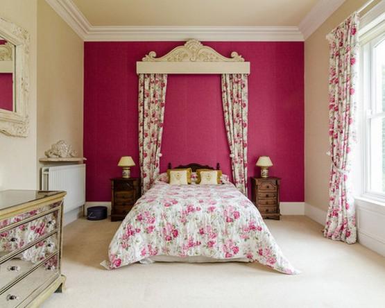 полог над кроватью с декоративным багетом