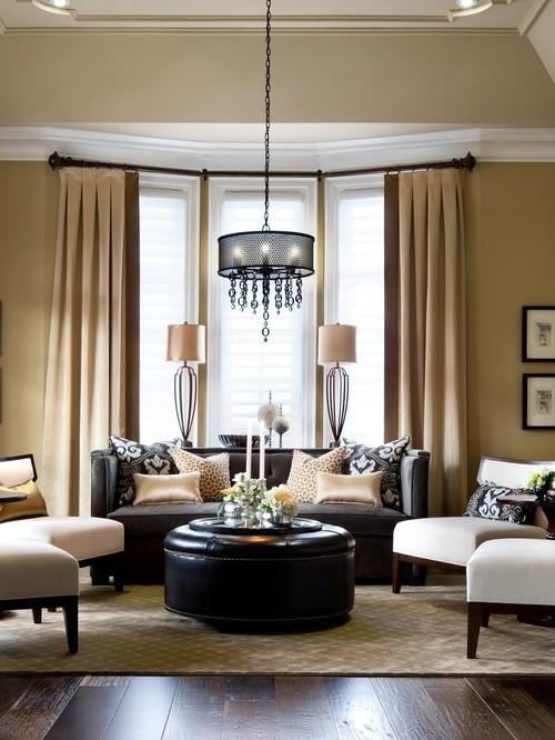 класссические портьеры для гостиной