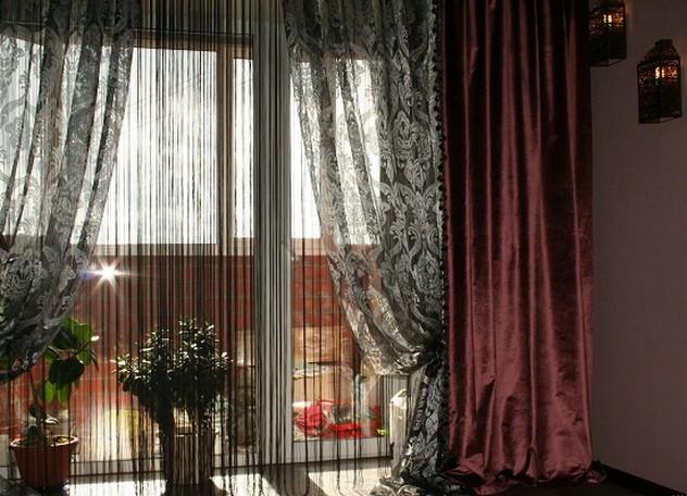 шторы в пол в стиле ар-деко