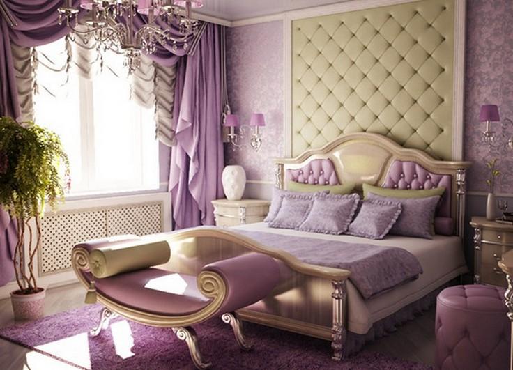 шторы арт-деко в спальне