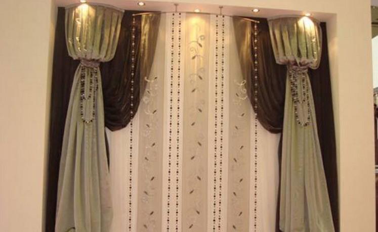 разнообразие форм шторы ар-деко