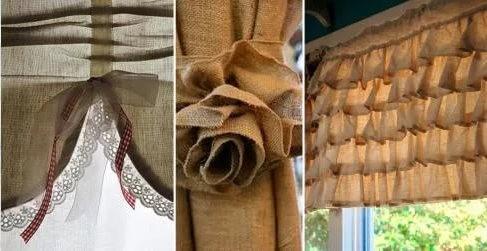 применение мешковины в текстиле
