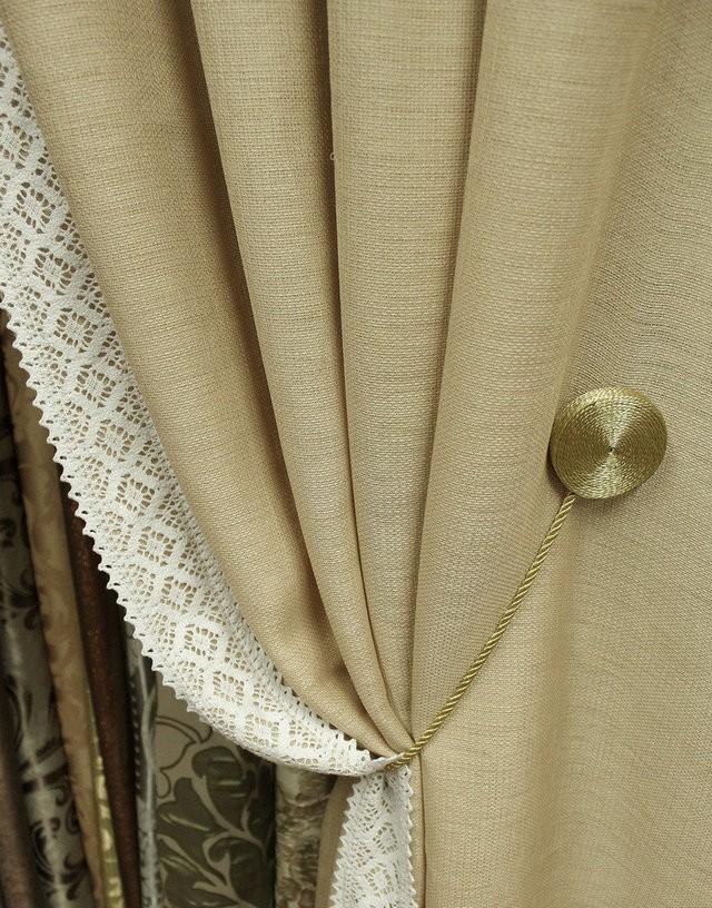 шторы из рогожки с магнитным зажимом