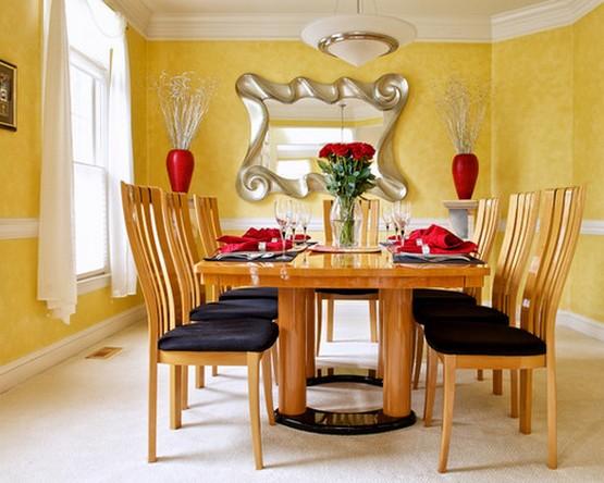белый тюль к желтым стенам в гостиной