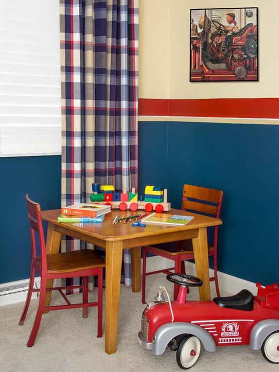 клетчатые шторы в детской