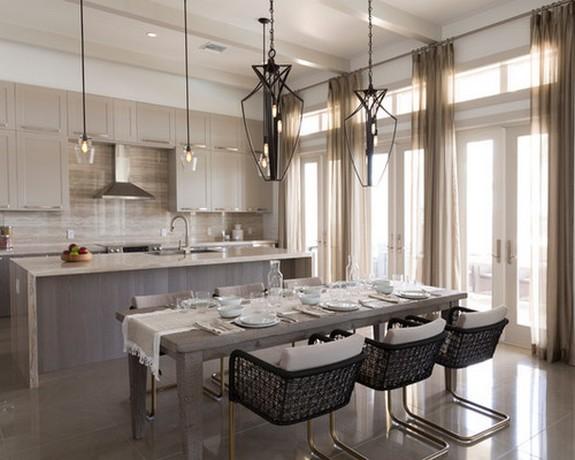 тюль в кухне с гостиной