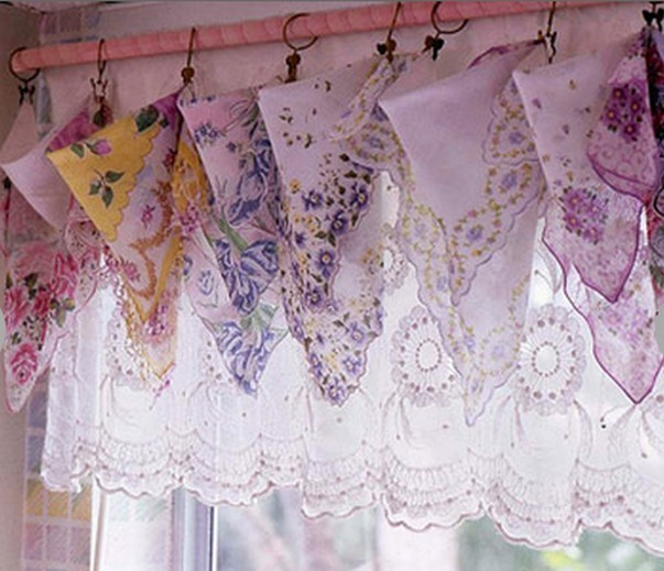 шторы в русском стиле из платков