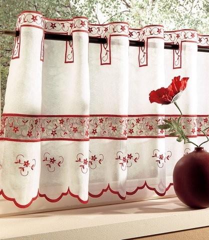 занавески в русском стиле с вышивкой
