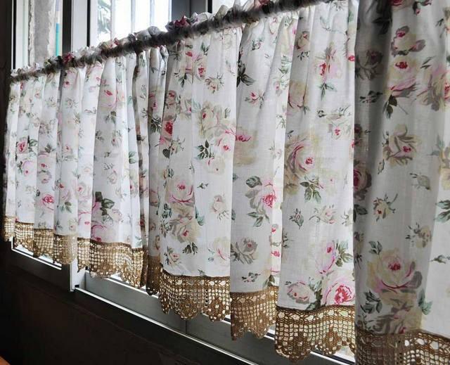 цветочная расцветка русских штор