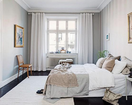 скандинавские шторы из льна