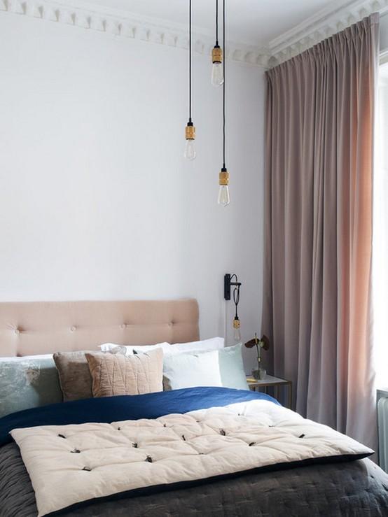 скандинаские шторы кремового цвета