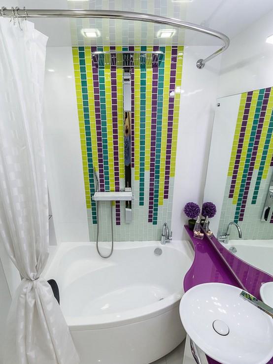 тканевая занавеска в ванной
