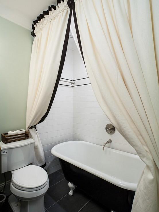 шторы из ткани для ванной