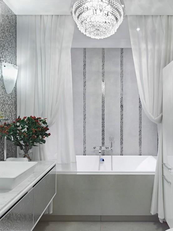 тканевые занавески для ванны