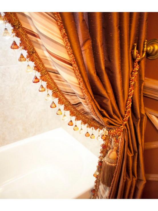 портьеры в ванной комнате