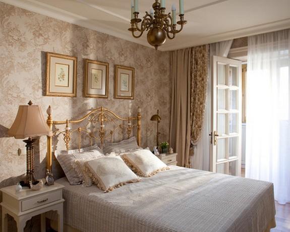 тройные портьеры для спальни