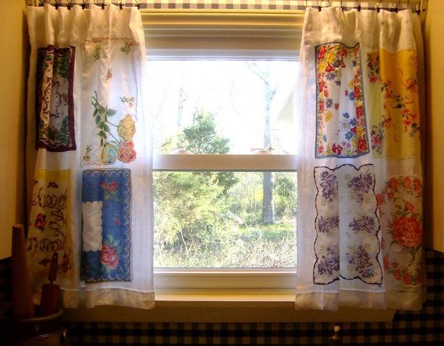 шторы пэчворк в винтажном стиле