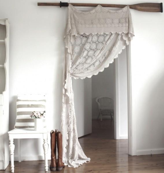шторы в дверной проем в винтажном стиле