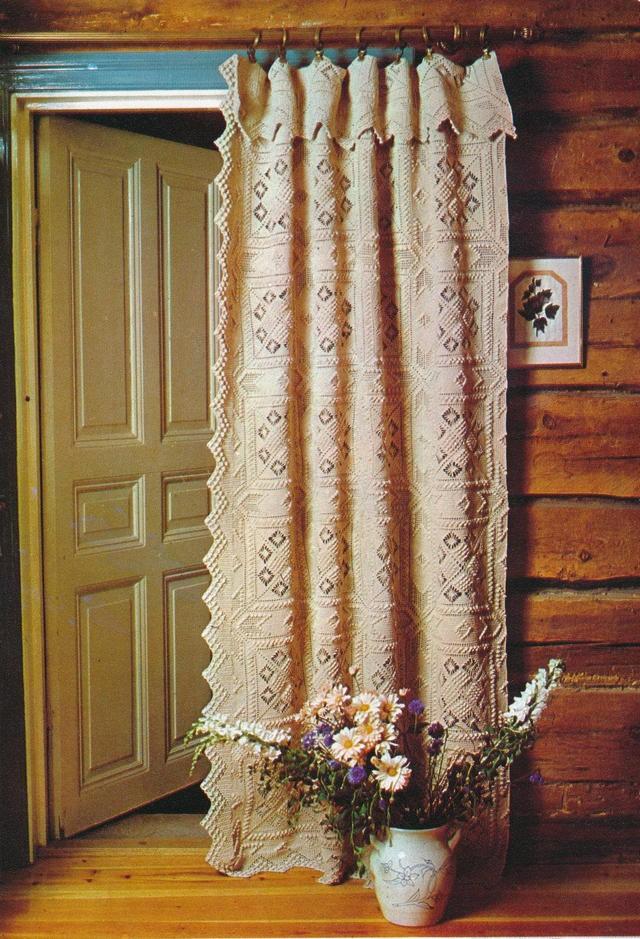винтажные шторы на двери