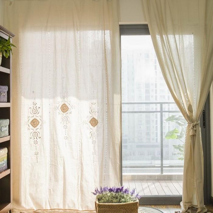 льняные винтажные шторы