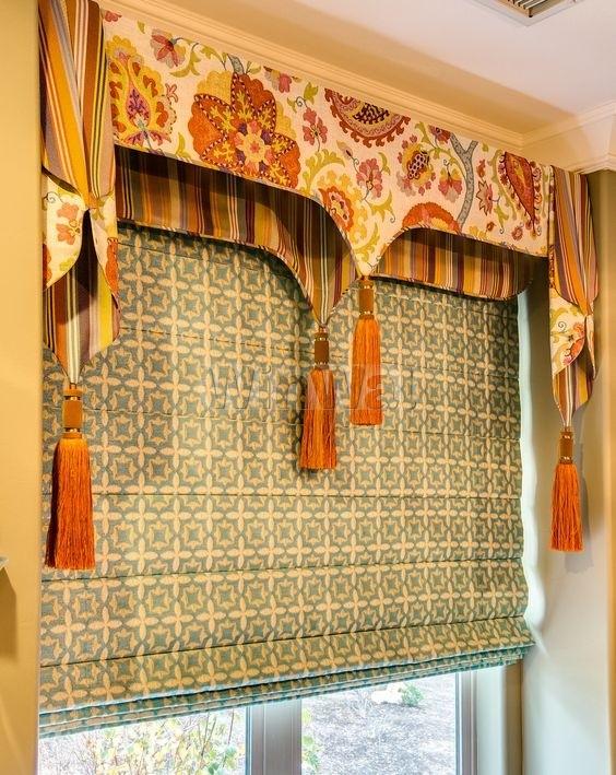 римские шторы в винтажном стиле