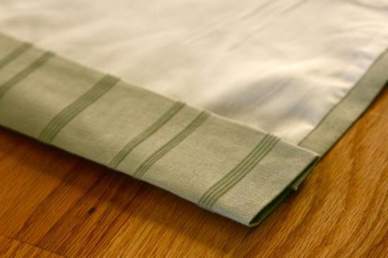 как правильно подшивать шторы