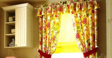 какие бывают короткие шторы