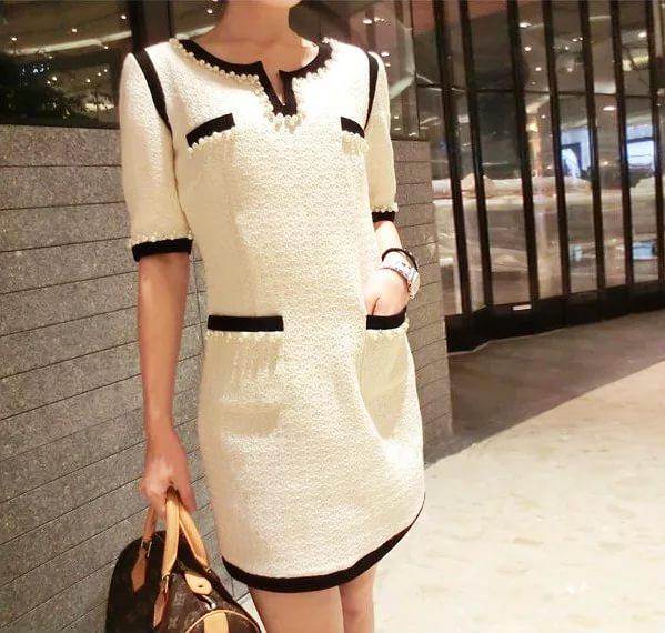 платье из ткани рогожка