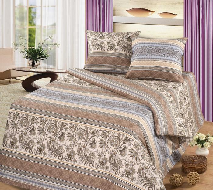 комплект постельного белья из ткани рогожка