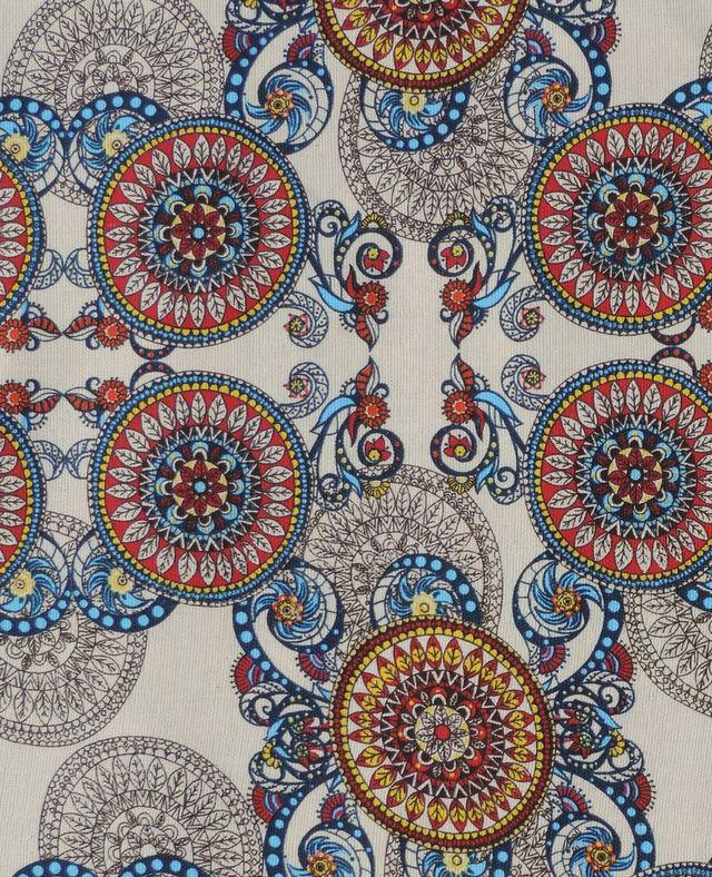 расцветка ткани рогожка в авангардном стиле