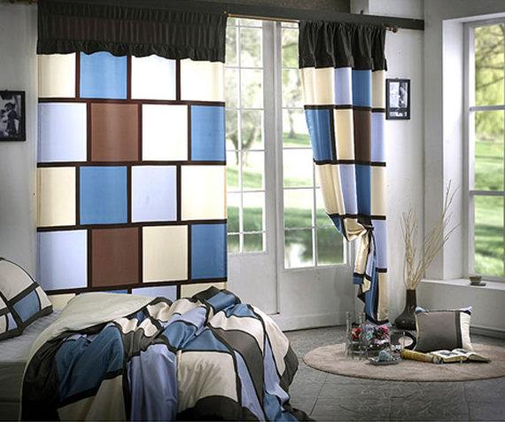 короткие шторы Colorblock
