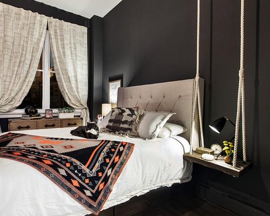 фото штор под черные обои