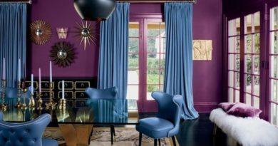 шторы под фиолетовые стены