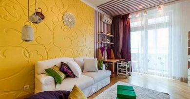 шторы под желтые стены