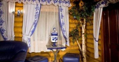 занавески в русском стиле