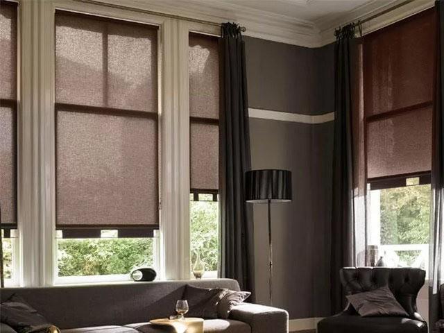 совмещение портьер и светофильтров на одном окне