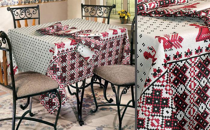домашний текстиль из ткани рогожка