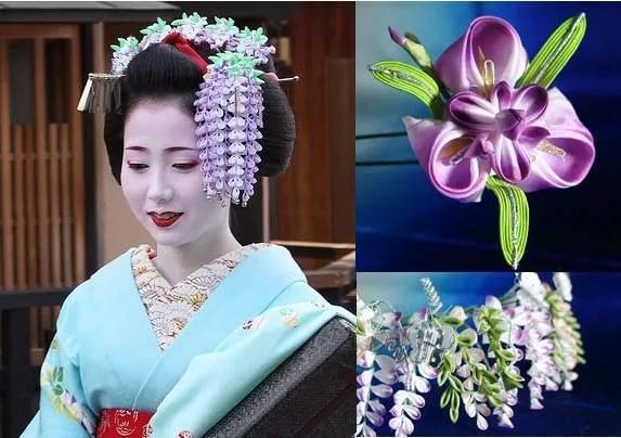 традиционные японские украшения в технике канзаши