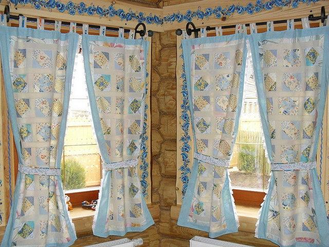винтажные шторы пэчворк