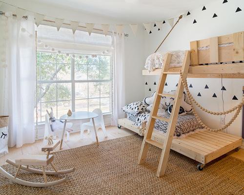 римская занавеска в скандинавском стиле в детской комнате