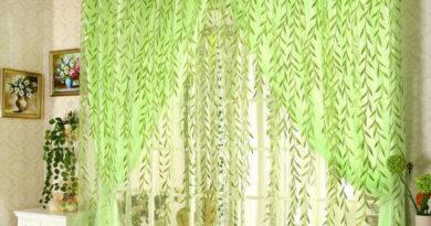 фототюль зеленого цвета