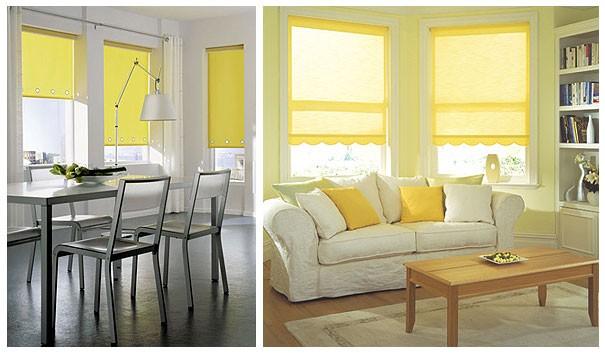 светофильры на окнах в интерьере дома