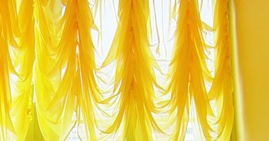 тюль желтого цвета