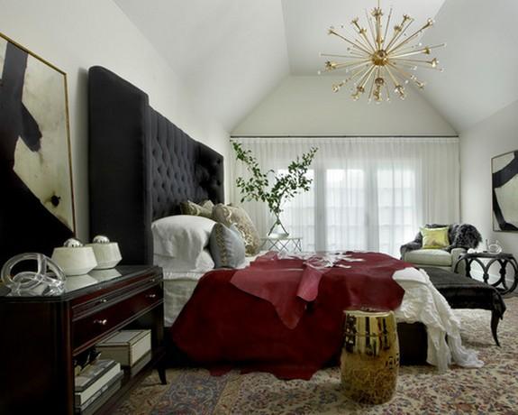 тюль белого цвета в спальне