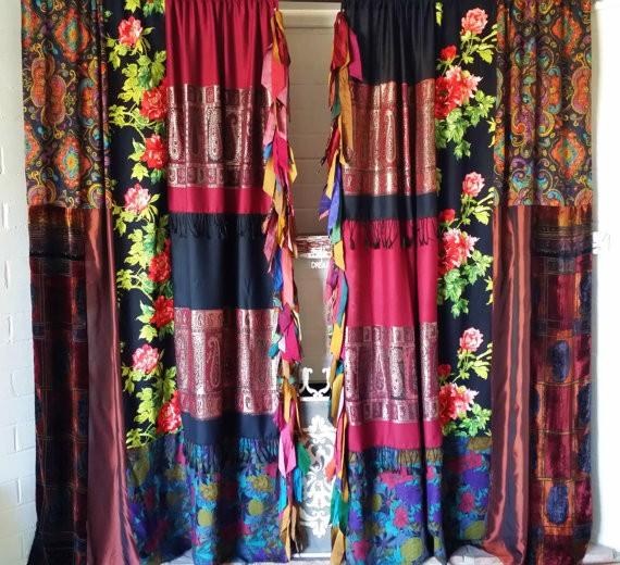 бохо шторы из платков