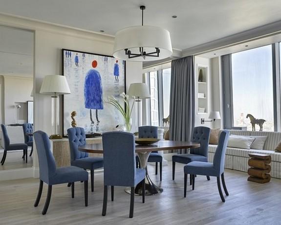портьеры для больших окон в гостиной