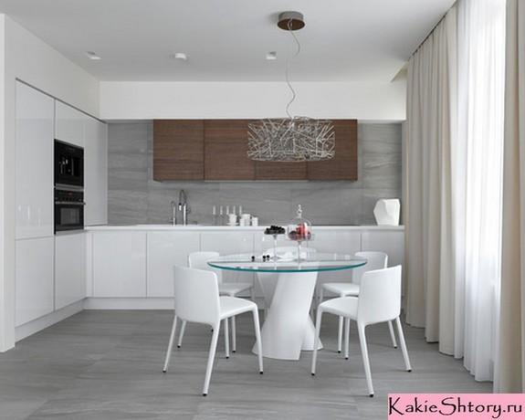 шторы молочного цвета для кухни