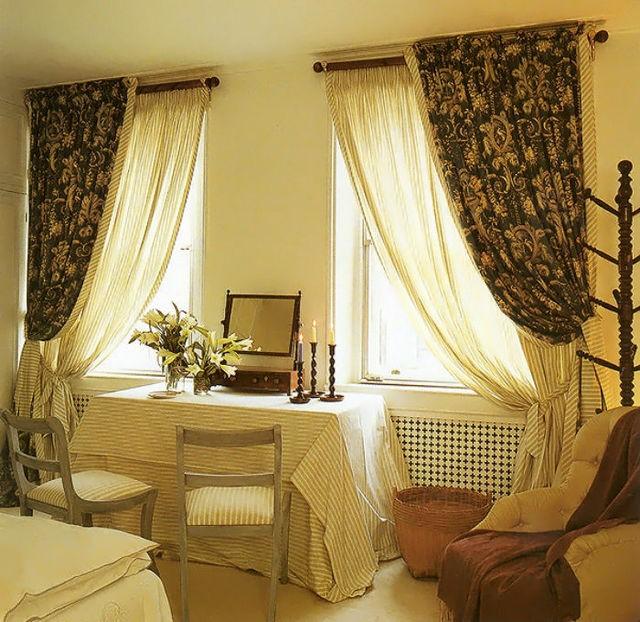 тюль и шторы на два окна