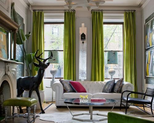 шторы на два окна в гостиной модерн